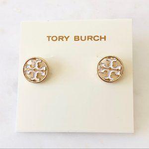 Tory Burch White Earrings